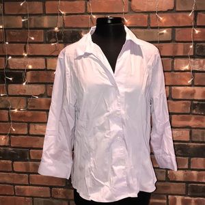 Jones New York Button Up Light Purple Shirt